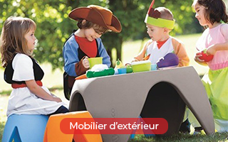 Mobilier enfant d'extérieur pour les campings