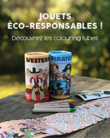 Colouring Tube, jouet éco-responsable