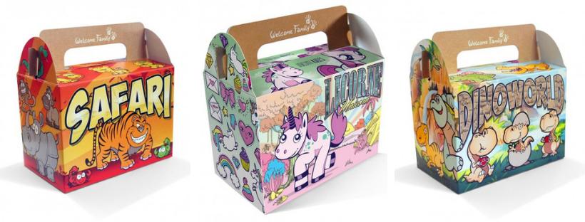 Lunchbox menu enfant comme panier de Pâques